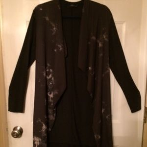 Zara Long Open Front Cardigan Medium